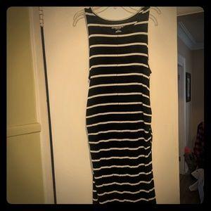 Liz Lange striped maternity dress